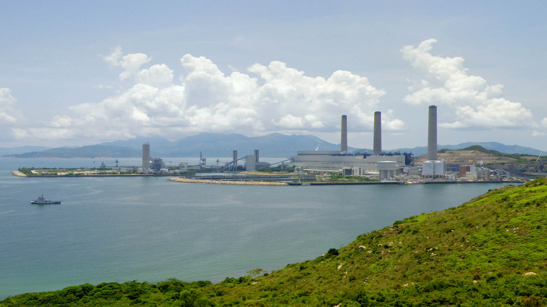 Power station on island