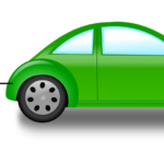 green cartoon car with electric plug